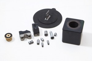 Various parts created from rubber to metal bonding